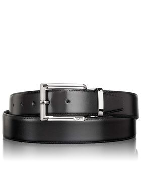 Polished Etched Buckle Reversible Belt OS Belts