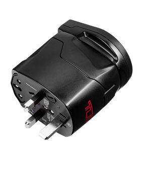 Adattatore elettrico con messa a terra e USB Electronics
